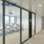 Transparent single office glass wall prices