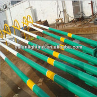 3m-12m octagonal steel poles with specification/pole barn steel building/galvanized steel street lighting poles