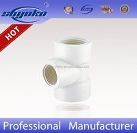 Manufacturer Good quality PVC BSPT THREAD PIPE FITTINGS, PVC Reduced tee PLASTIC PIPE FITTINGS