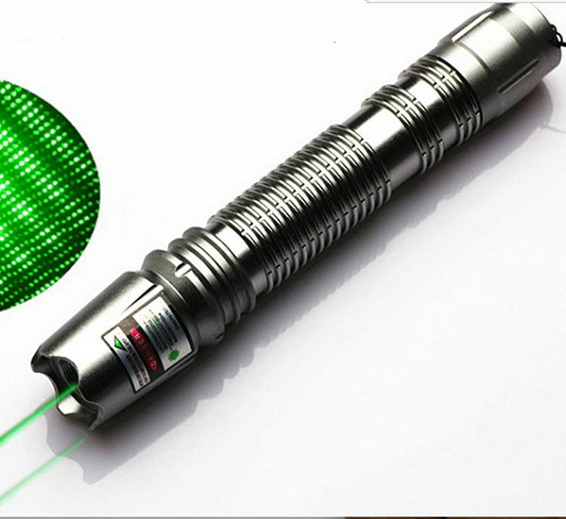 Hot! green laser pointer 2in1 babysbreath 100mw 532nm high power adjustable focus burn match laser beam 10000 meters+star cap