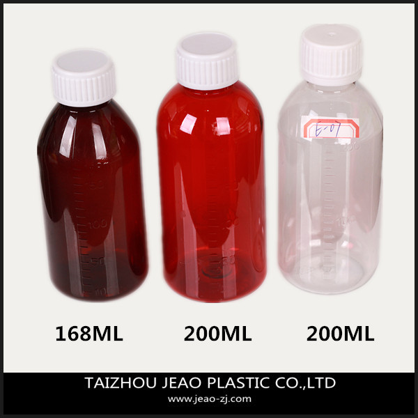 2014 Latest series of 200ml pet transparent cough syrup bottle