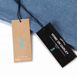 China custom swing tags garment hang tags for clothing supplier