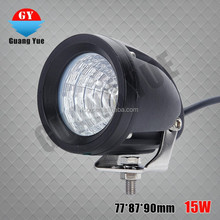 2015 new type mini round 15w led work light for truck,Tractor Jeep, off-road