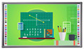 4,6,10 points 4Camers Optical Classroom Smart board