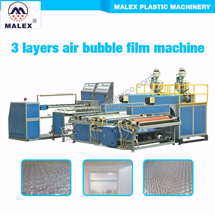 China made 3 layer bubble film production line MX-B160T