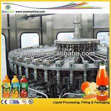automatic complete fruit juice production line / hot bevrage filling line