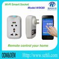 smart socket and plug connect wifi,controlled by cellphone and ipad tablet