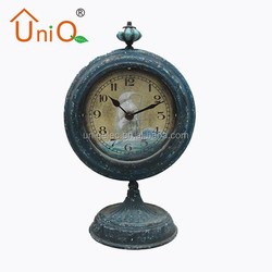 MA0039 green color antique quartz table clock