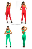 Custom Wholesale Fashion Sexy Ladies Sports Running Gym Jumpsuit