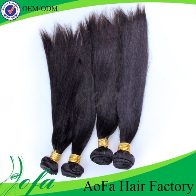 Wholesale unprocessed grey 100% human hair extension 4 pieces