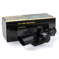 Tactical Kandar 2.5-10x40 Red green Illuminated Hunting Rifle Scopes With Red Laser