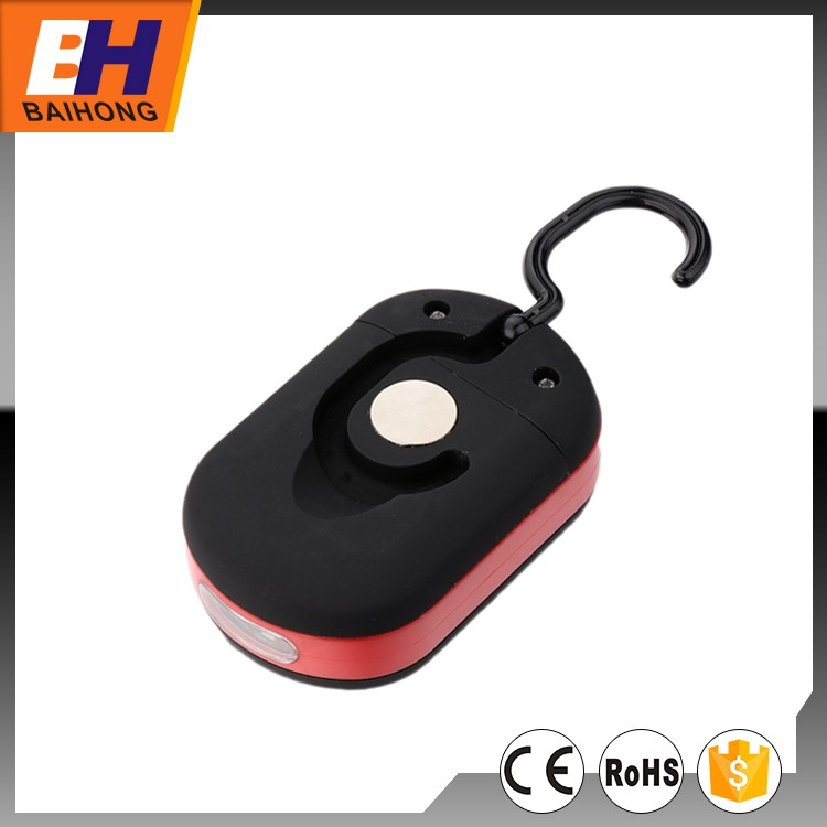 3W COB 3 LED Work light With Hook and Magnet, Mini Portable outdoor car repairing Light
