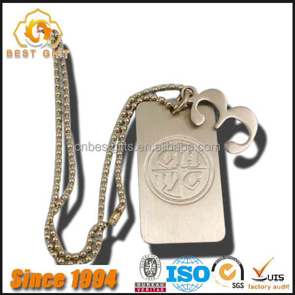 2016 Newest Design Metal Blank Engraved Bulk Dog Tags