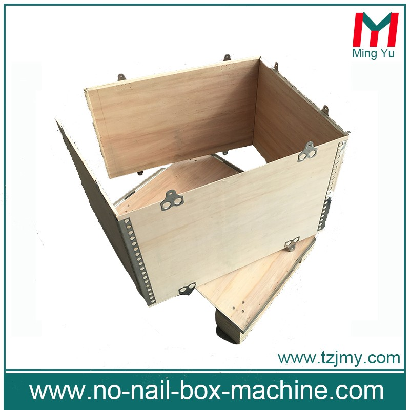 customized foldable wood crate folding wooden 3p crates