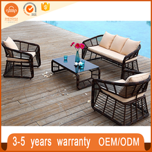 All Weather Unique Style Rattan Resin Heavy Wicker Outdoor Furniture