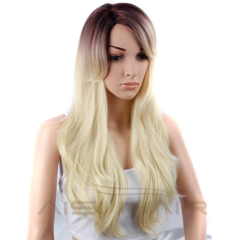 Menor Preço regular de onda longa perucas sintéticas para venda