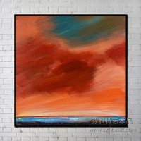 sunset sky abstract painting good quality