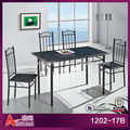 1202-17B cheap 4 seaters wrought iron dining table set