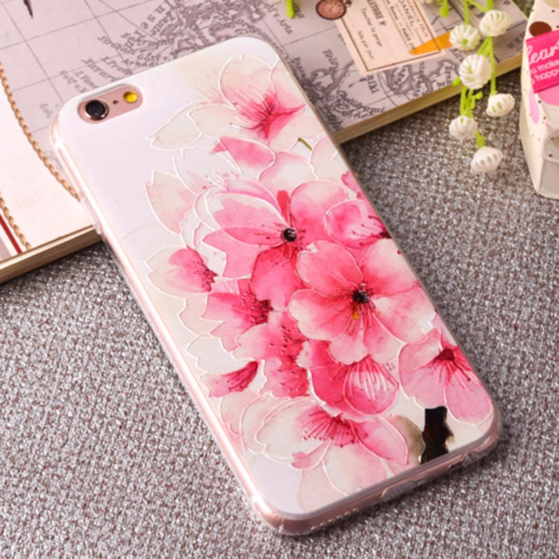 3d printing tpu beautiful mobile phone case back cover for iphone 7