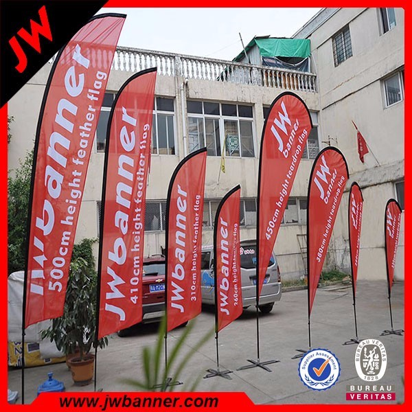 Wing banner advertising tear drop flag outdoor display mini flag