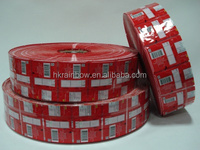 Heat sealable plastic PVC / PET shrink sleeve labels film in roll for bottles