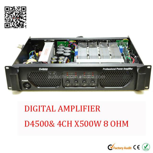 4 channel 500 watt digital switching power amplifier