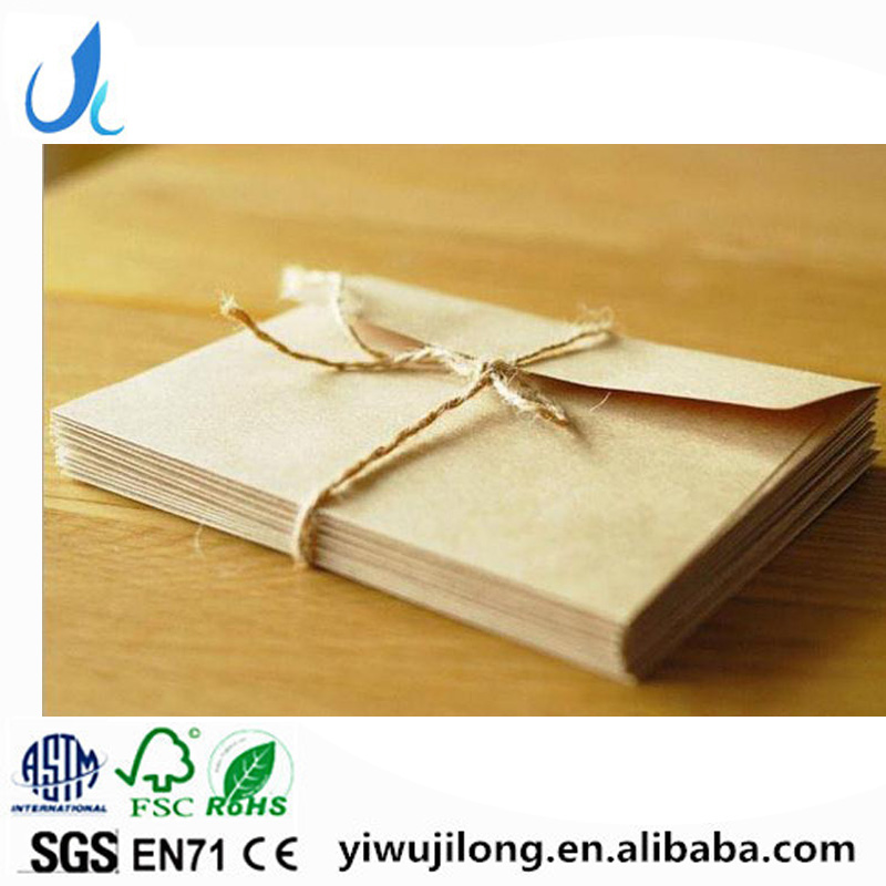 Wholesale Customized brown Kraft Paper Envelope for card