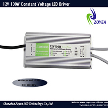 meanwell high power waterproof constant voltage led power driver 12v 100w 8.3A IP67 with CE&ROHS