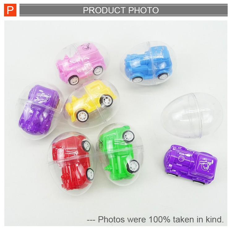 Plastic mini pull back car toy in capsule toys for promotion