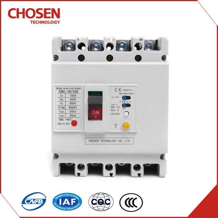 100amp 3 phase elcb residual current protection circuit breaker