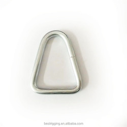 Rigging Hardware Stainless Steel Triangle Ring for tie down straps(cargo lashing belt)