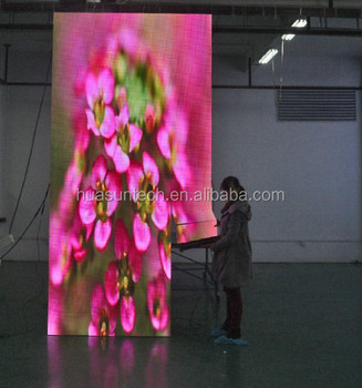 High Quality Folding Led Display/moving Led Curtain/LED Video wall p6 indoor/outdoor rental