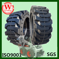 China cheap solid cushion bobcat s 180 skid steer tire 10-16.5 12-16.5 with long warranty