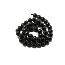 Wholesale 8mm Tourmaline Round Beads Natural 15'' DIY Bracelet Necklace Jewelry Making DH-BTB182-75