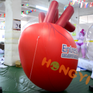 Custom inflatable heart model human heart organs balloon replica for publicity show