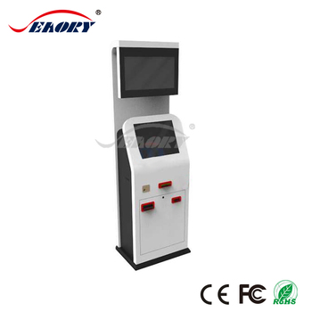 factory OEM 19'' IR cash acceptor kiosk with thermal printer