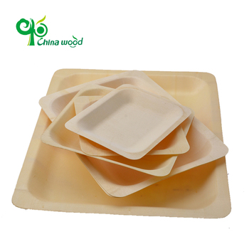 Wooden disposable tray -- YDT16PC