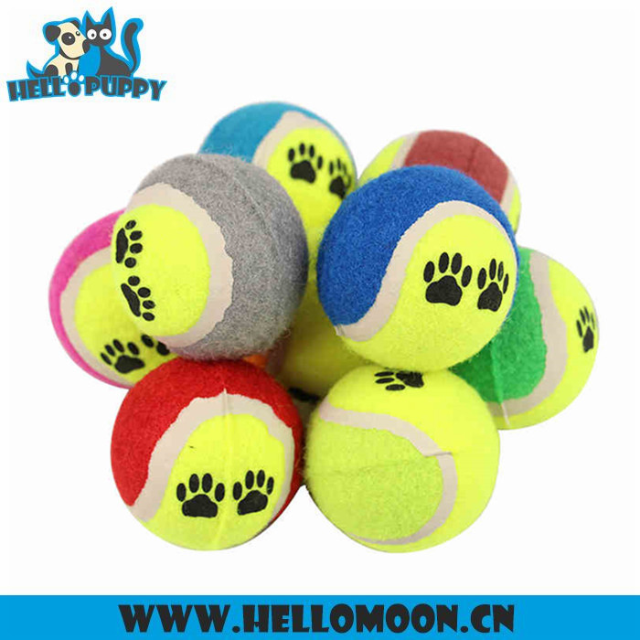 Multi Color Custom Dog Tennis Ball