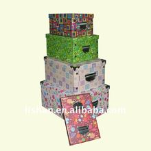 hot sale foldable pattern storage box