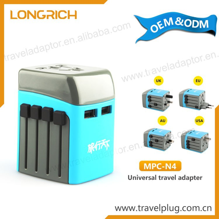 Industrial plug 3 pin double socket, universal travel adapter with usb charger,explosion proof plug and socket,