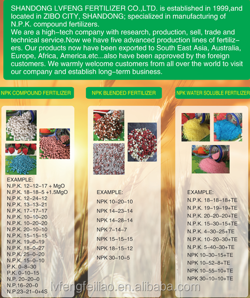 NPK chemical fertilizers