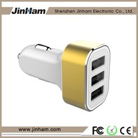 Usb Car Charger 3 Port , Car Charger With Cable for GPS devices , Promotional Usb Car Charger