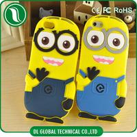 Fashionable minion silicone case for iphone 6 plus fast shipping time