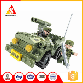 Wholesale AUSINI building blocks toys chariot soldiers funny bricks