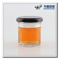 60ml 2oz Mini airtight glass canning jars for honey with screw metal lid wholesale