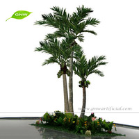 APM028 GNW plastic coconut tree artificial coconut palm tree