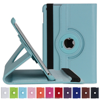 Best Selling Smart Handheld PU 360 Degree Rotating Back Cover Case for iPad mini 4