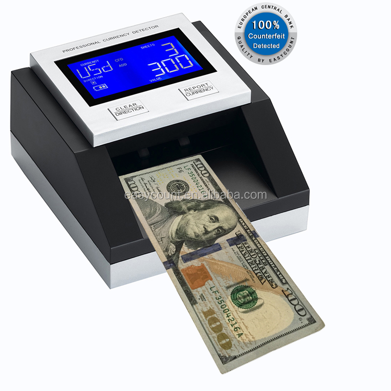 EC350 Multi Function Portable Cash Detector For Worldwide Currency Include Euro USDTRYBRLRupeeRmbGBPCHFmore