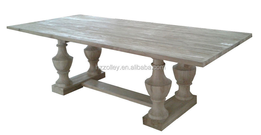 Luxury hotel dining room furniture oak wood dining <strong>table</strong> with chairs