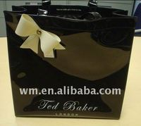 Fashion design PVC plastic handbag black color high quality